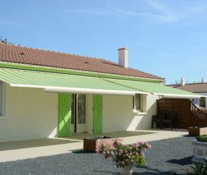 Store coffre de terrasse design Chrysalis vert