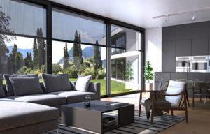Store vertical de fenêtre Vizion - Vue intérieure