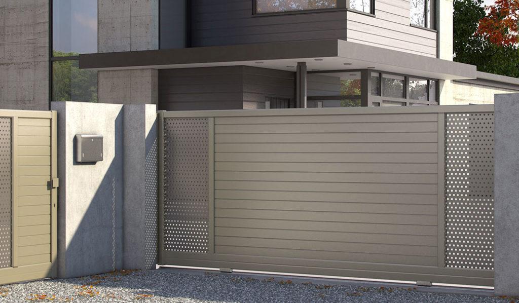 portail aluminium roche habitat